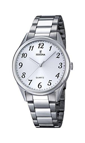 Festina - F16875-1 - Montre Femme - Quartz Analogique - Cadran Blanc - Bracelet Acier Argent