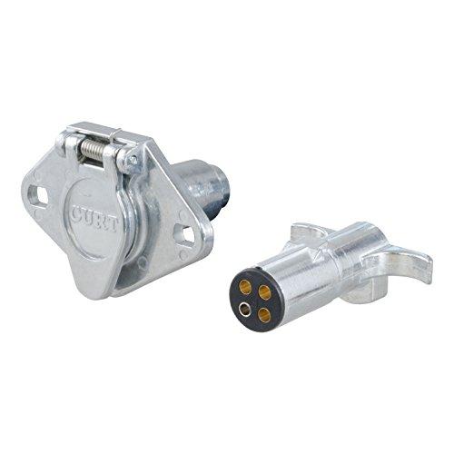 Preisvergleich Produktbild CURT 58671 I-6/I-7, 4 Pole Die Cast Connector Car and Trailer Ends - Pkg. by Curt Manufacturing