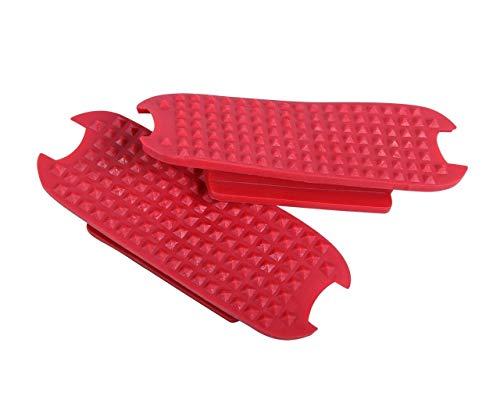 QHP Steigbügel-Tritte Steigbügel-Einlagen Color für Steigbügel (12 cm, Leuchtend Rot)