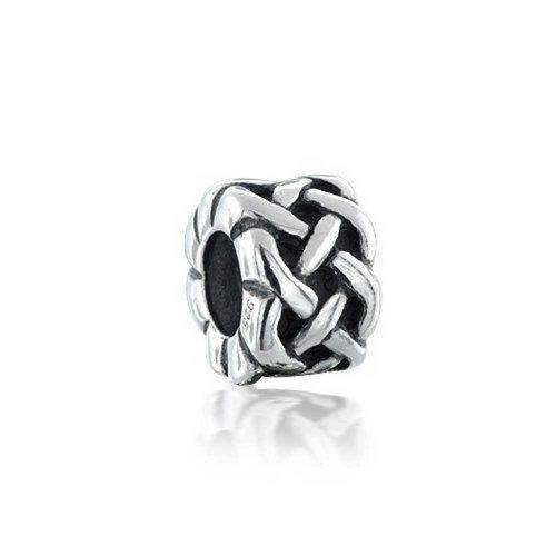 Irish Celtic Love Knot Arbeit Symbol Spacer Bead Charm 925 Silber für Europäische Armband für Paare Frauen Freundin