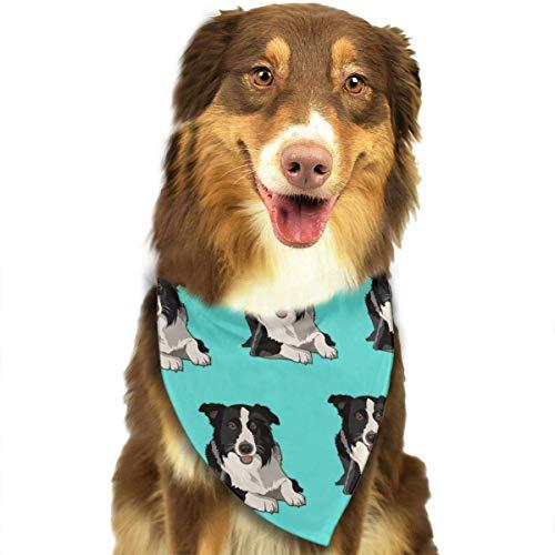 Border Collie Kostüm - Sdltkhy Cute Border Collie Pet Dog Cat Bandanas Triangle Bibs Pet Scarf Dog Neckerchief Headkerchief Pet Accessories