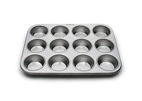 Fox Run 4868 Stainless Muffin-Backform, stahl, 12 Cup Pan Professional 12-cup Muffin Pan