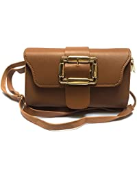 Latest Stylish And Beautiful Brown Sling Bag / Hand Bag In Micro Leather With Removable / Adjustable Shoulder...