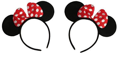 2er Pack: Haarreifen mit Mausohren und -