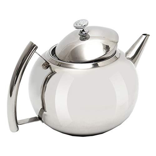 Zerama 1L / 1.5L / 2L Edelstahl poliert Teekanne Tee-Topf Kaffee mit Teeblatt Filter Infuser -