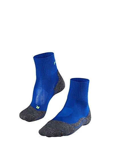 Herren Kurze Wirkung (FALKE TK2 Short Cool Herren Trekkingsocken / Wandersocken - blau, Gr. 44-45, 1 Paar, knöchel-high (kurz), kühlende Wirkung, mittelstarke Polsterung)