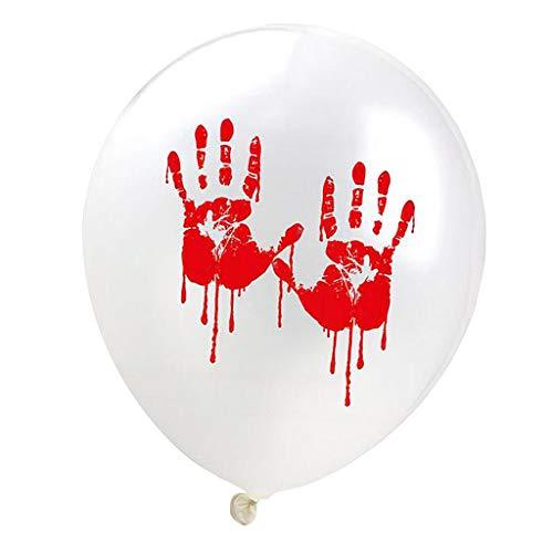FLAMEER 20er-Set Blutiges Latexballon Halloween Ballon Deko Ballon als Dekoration und Foto Prop - Handabdruck
