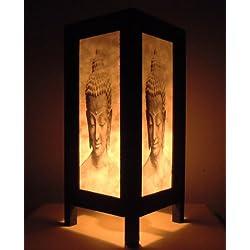 Rare Asia Thai lámpara de mesillas Buda estilo noche cabeza Buda por Tailandia