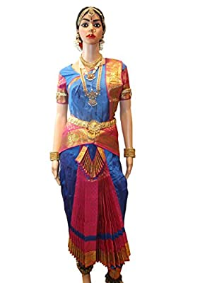 Professional Bharatanatyam Costumes made in Silk Cotton from Margam - Size: 34 Inches (Jewelleries & Accessories not included) Product Id: STMRM103134.