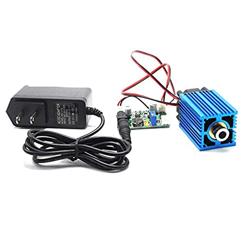 2000mw High Power 450nm 2W Adjusted Blue Cross Laser Module 12V DC + Adapter