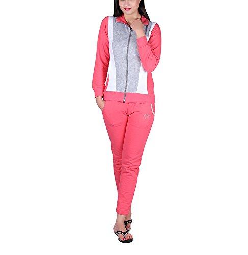 Vivid Bharti Women's Tracksuit (ri202_Pink_XXX-Large)