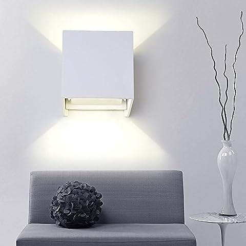 K-Bright 12W Appliques Murales Extérieur Interieur LED, Réglable éclairage Aluminium Lumières de la Nuit mur Projecteur Lampe pour Salle d'exposition, Salon,