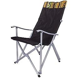 LJJY Portable Ultra léger Chaise de Camping Pliable Dossier extérieur en Alliage d'aluminium extérieur Longue Chaise Longue de Lune avec Sac fourre-Tout approprié pour randonnée,Brown