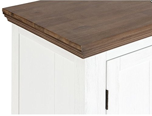 Möbelkultura OLYwohn1w-BC Lowboard TV Schrank, Holz, weiß / braun, 55 x 155 x 185 cm - 5