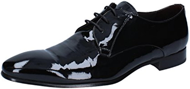 ROCONI Zapatos de cordones de charol para hombre Negro negro -
