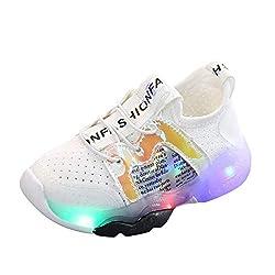 Makalon Unisex Kinder Leuchtschuhe Sportschuhe Sneakers Laufschuhe mit Leucht, Jungen Mädchen Mesh Schuhe Freizeitschuhe Turnschuhe Sport Schu Atmungsaktiv Fitnessschuhe