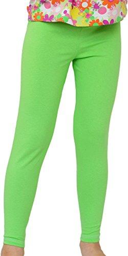 nge Leggings aus Baumwolle (104, Grün) (Grüne Leggings Kinder)