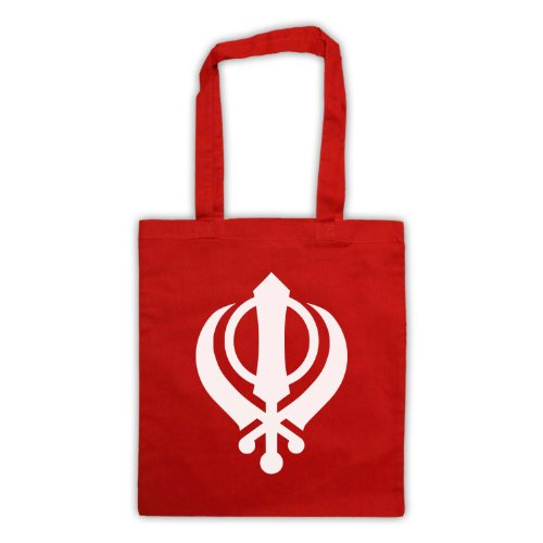 Borsa custodia Khanda Sikhism Rosso