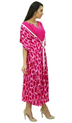 Bimba femmes longue maxi kimono concepteur rayonne nuit caftan plage coverup Magenta