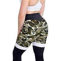 Leggins Mujer,Lunule Moda Camuflaje Mallas de Cintura Alta Plisado Leggin Deporte Legging de Yoga Pantalones Deportivas