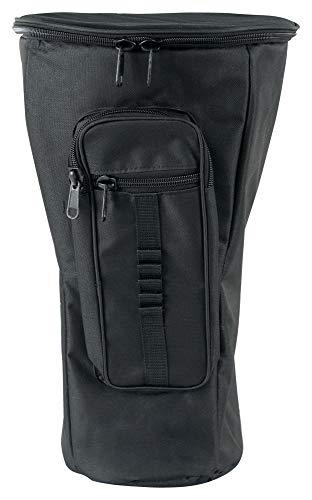XDrum Djembe Tasche Pro (Rucksacktasche für Djemben bis max. 25 cm Durchmesser und 50 cm Höhe, dicke Polsterung, verstellbare Schulterriemen und Hüftgurt) schwarz