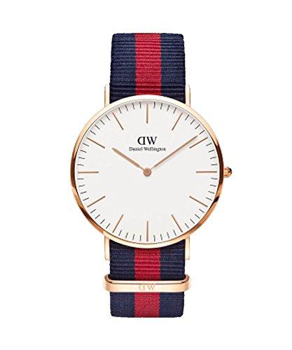 DANIEL WELLINGTON - Reloj de los hombres de 40 mm, DANIEL WELLINGTON OXFORD ROSA de ORO DW00100001
