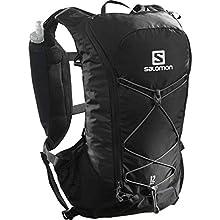 Salomon Lightweight Racing Backpack 2 Litre, 2 Soft Flask Bottles 50 ml Included, Agile 2 Set, Black, LC1305900