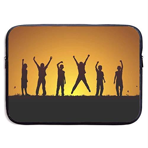 Happy Children 13-15 Inch Laptop Sleeve Bag Portable Dual Zipper Case Cover Pouch Holder Pocket Tablet Bag,Water Resistant,Black,13inch Samsonite Laptop Roller
