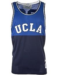 UCLA Gilet Vincent pour homme, Bleu marine, Polyester,