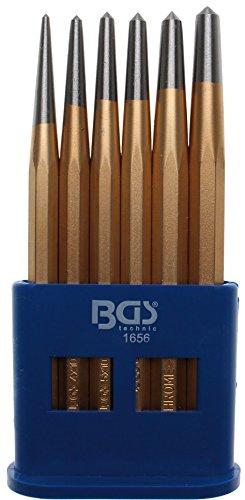 BGS 1656 Jeu de pointeaux 6 pièces, Or/argent/bleu, 150 mm
