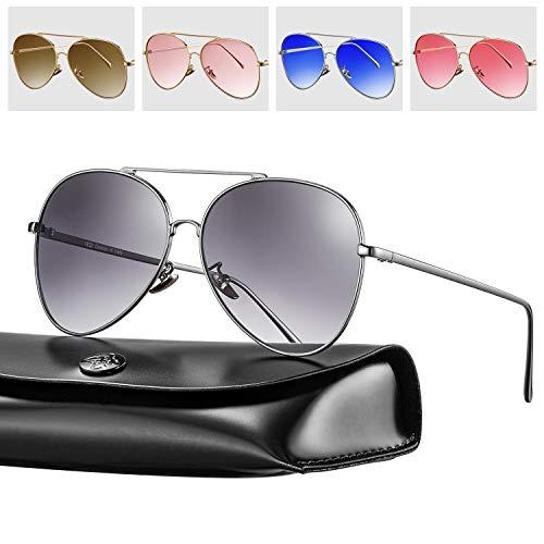 Rezi Sonnenbrillen, Polarisierte Sonnenbrillen für Damen Herren, PC-Objektive und Unzerbrechliche...
