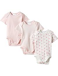 Twins Baby Girls Bodysuit, Shortsleeve, 3-Pack