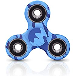 Fidget Hand Spinner de Donix Toy Stress Reducer High Speed Ceramic Bearing Fidget Toy Can Continue to Rotate for 2-4 minutes - Perfect For Anxiety Adult Children (Camuflaje)