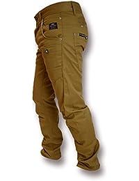 Hommes Crosshatch Kractus Jeans Tordu Multi Poche Cinche Jeans Coupe Slim Chiné