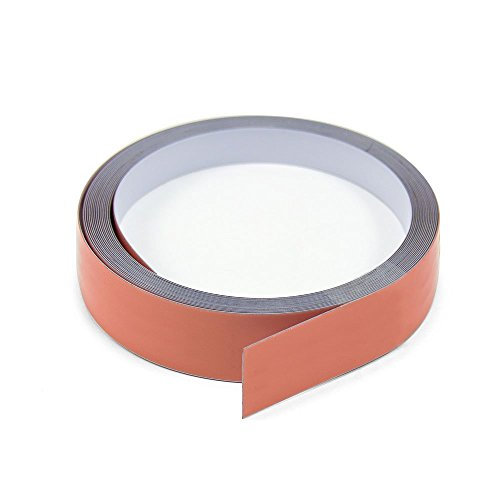 Magnet Expert® 25 mm de large x 0,4 mm d'épaisseur en acier Blanc brillant Tape avec Premium auto-adhésifs (30 m de long)