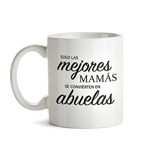 Tassenwerk Taza de Café Blanca con Mensaje - Graduación para Abuelas - Desayuno - Taza de Café como Regalo del Día de la Madre - Regalo para Abuelas Primerizas - Idea Reyes Magos