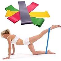 Ouneed 1PC Banda de resistencia Loop yoga pilates Inicio gimnasio fitness ejercicio entrenamiento (Color aleatorio) (500x50x0.7mm)