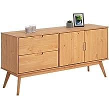 d96d9dd1442 IDIMEX Buffet Tivoli Style scandinave Design Vintage Nordique Commode bahut  vaisselier avec 2 tiroirs et 2