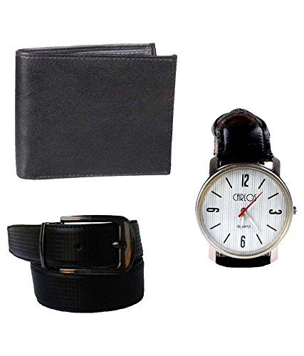 Klaska Lenin Men's Belt Wallet Wrist Watch (lenin_28_Multi_Free Size)