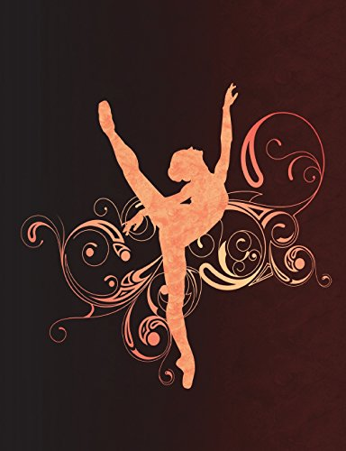 Arabesque Ballet Swirls - Notebook For Dancers: Wide Ruled Composition Book - 7.44' x 9.69