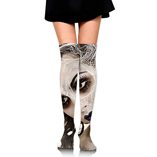 HRTSHRTE Halloween Zombie Bride Corpse Ankle Stockings Over The Knee Sexy Womens Sports Athletic Soccer Socks