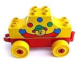 LEGO ® duplo - Anhänger - Hänger für Autos LKW - und 1 Brückenstein Bildstein 2 x 8 x 2 - gelb