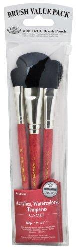 Royal Langnickel Camel Brush Set Value Pack, Mop by ROYAL BRUSH - Value Pack Von Camel