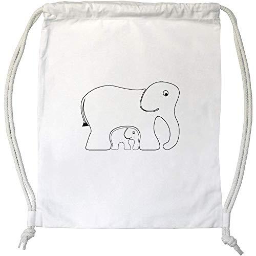 Azeeda 'Elefantes' Cordón / Bolsa de Gimnasio (DB00004298)