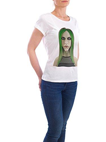 """Design T-Shirt Frauen Earth Positive """"Avril Lavigne"""" - stylisches Shirt Musik von Rob Snow Weiß"""