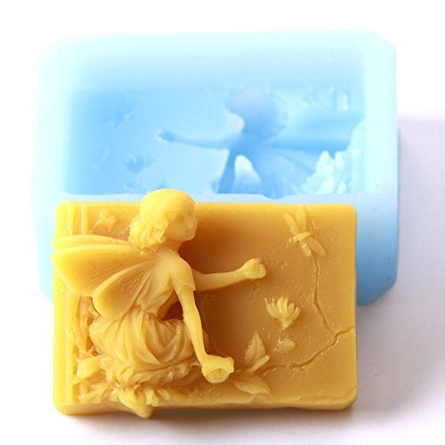World of moulds flower fairy rectangle stampo in silicone, 9.4x 7.1x 3cm