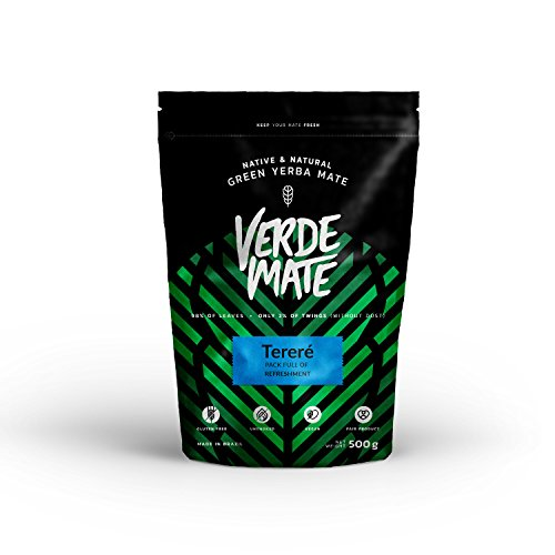 Verde Mate Green Terere Tea 500g   Green Yerba Mate from Brazil   High Quality Yerba Mate   Flavoured Yerba Mate   Unsmoked   Vegan   Gluten Free