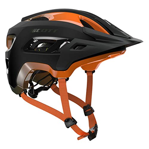 Scott Stego MTB Fahrrad Helm schwarz/orange 2019: Größe: M (55-59cm)