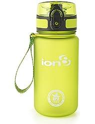 Ion8 auslaufsichere Wasserflasche / Trinkflasche, BPA-frei, Frostig grün, 350 ml