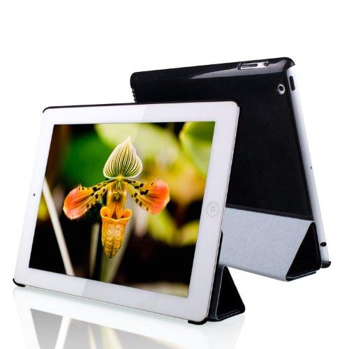 JETech Hülle für Apple iPad 4, iPad 3 und iPad 2, Schutzhülle mit Ständer Funktion und Auto Schlaf/Wachen, Schwarz